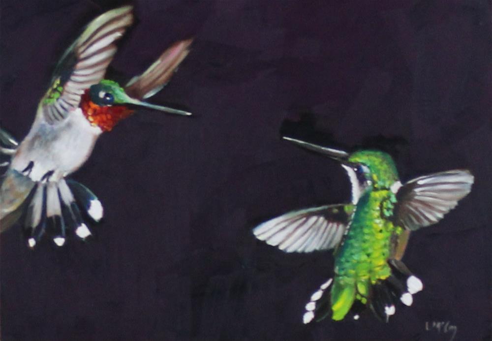 """Overture, Hummingbird Painting, Linda McCoy"" original fine art by Linda McCoy"
