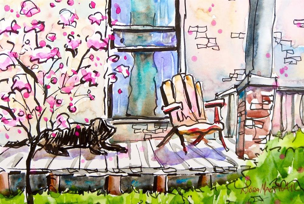 """laze around"" original fine art by Nora MacPhail"