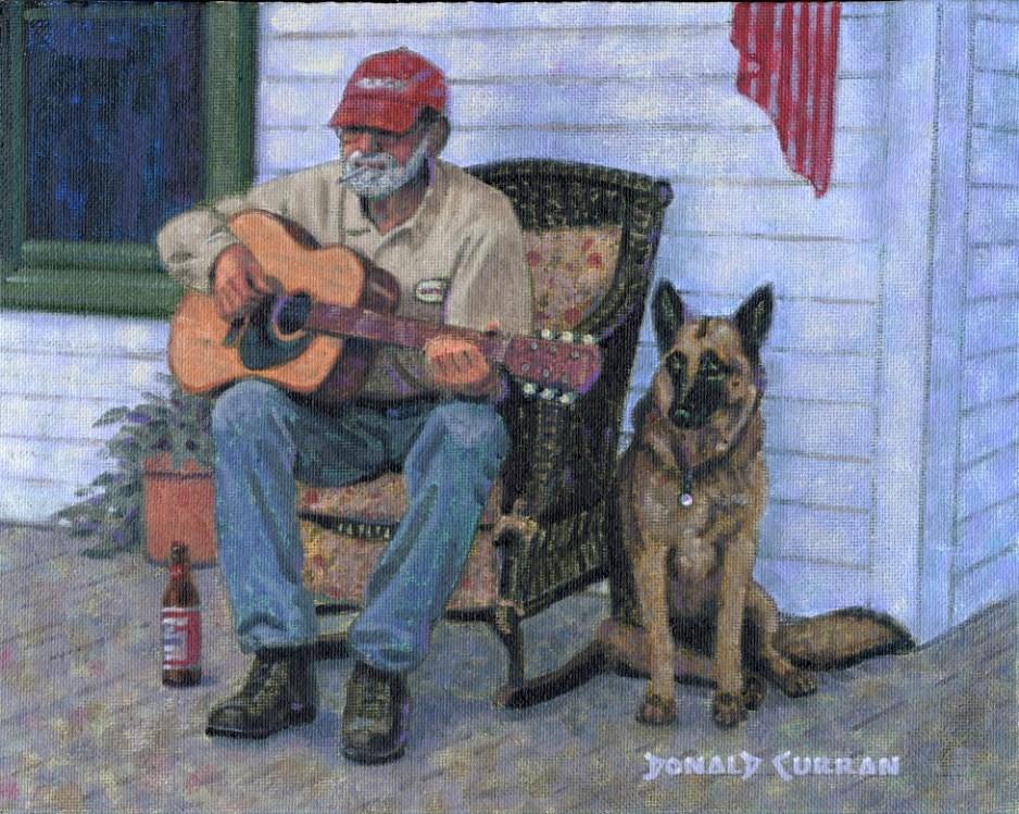 """A Simple Tune"" original fine art by Donald Curran"