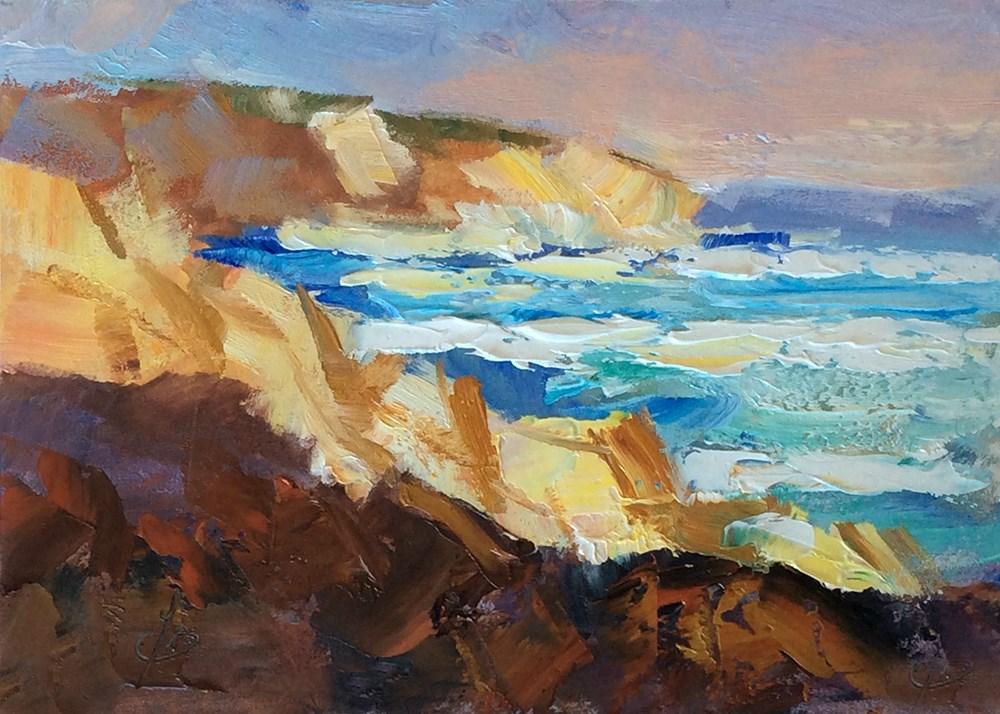 """CALIFORNIA COAST"" original fine art by Tom Brown"