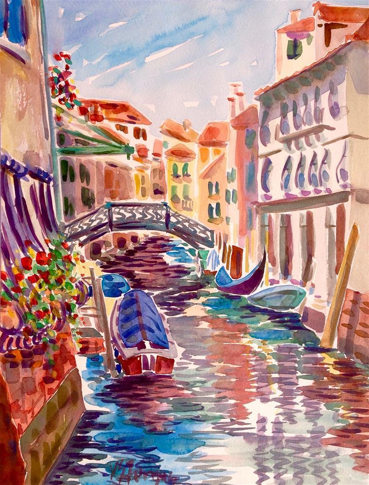 """Side Canal"" original fine art by Virginia Fergus"
