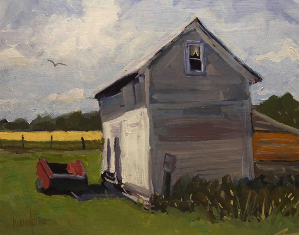 """""""Grainery at Noon"""" original fine art by Kevin Larson"""