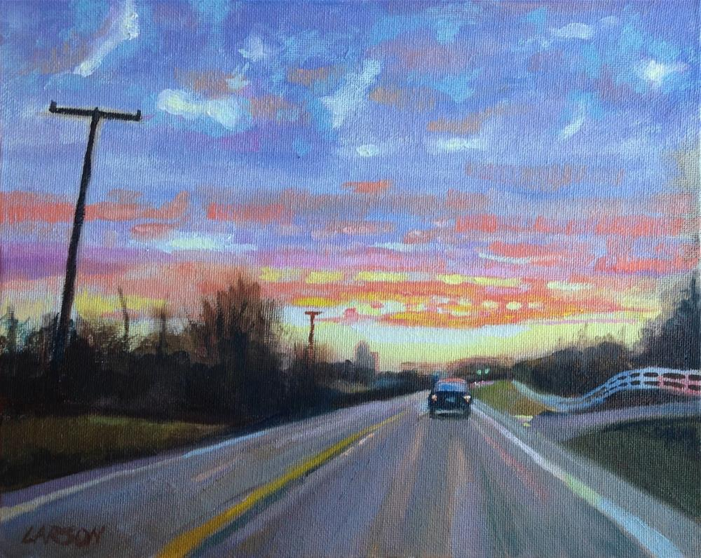 """Sunrise Commute"" original fine art by Eric Larson"