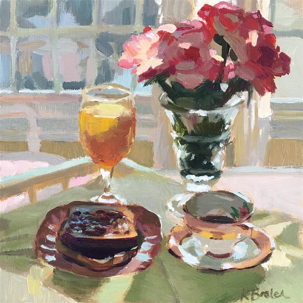 """Breakfast Tray"" original fine art by Kaethe Bealer"