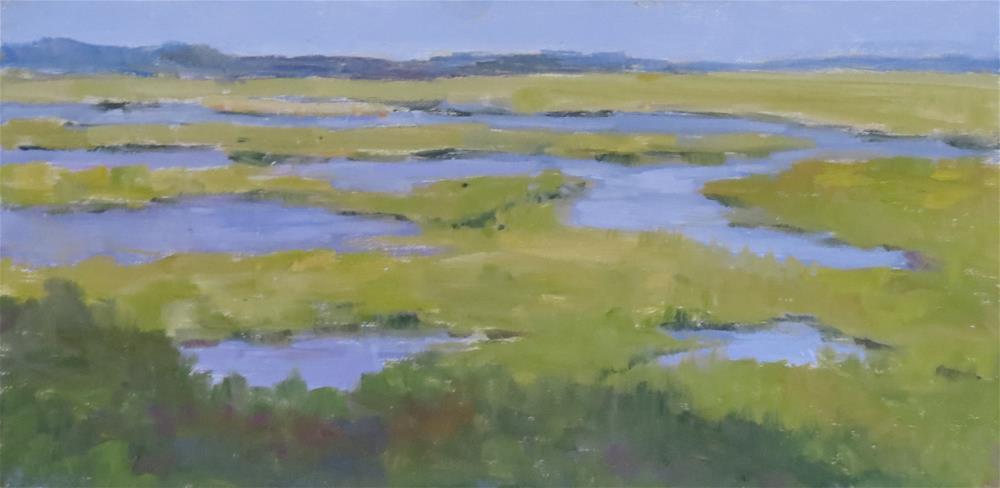 """Tidal Wetlands"" original fine art by Pam Holnback"