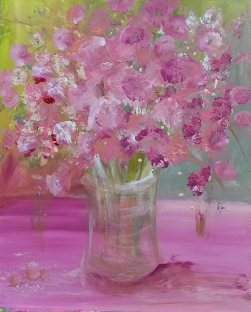 """""""Pink Explosion-Day 6"""" original fine art by Terri Einer"""