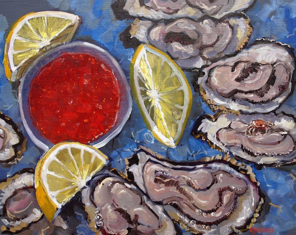 """Oyster Surprise"" original fine art by Rick Nilson"