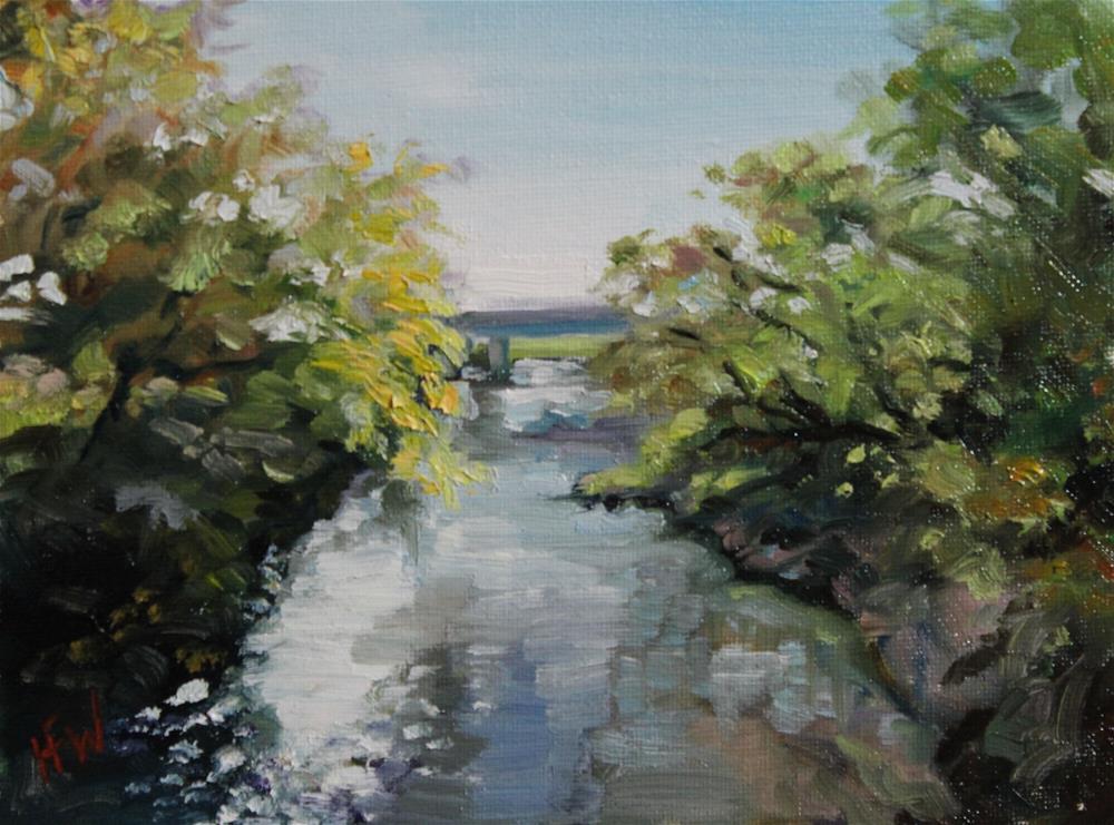 """75 Street Bridge"" original fine art by H.F. Wallen"