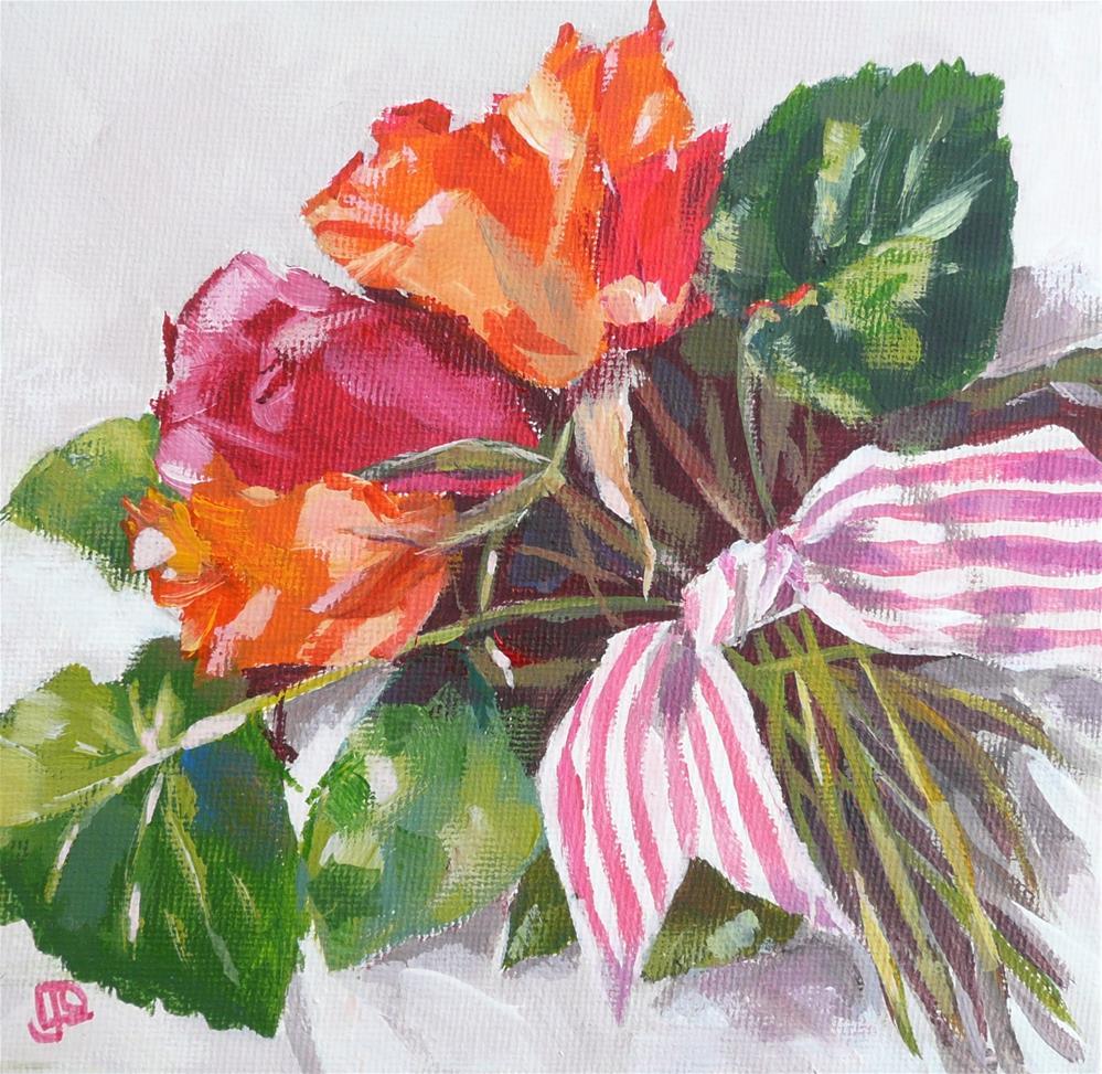 """""""Posy Panache"""" original fine art by Leanne Owen"""