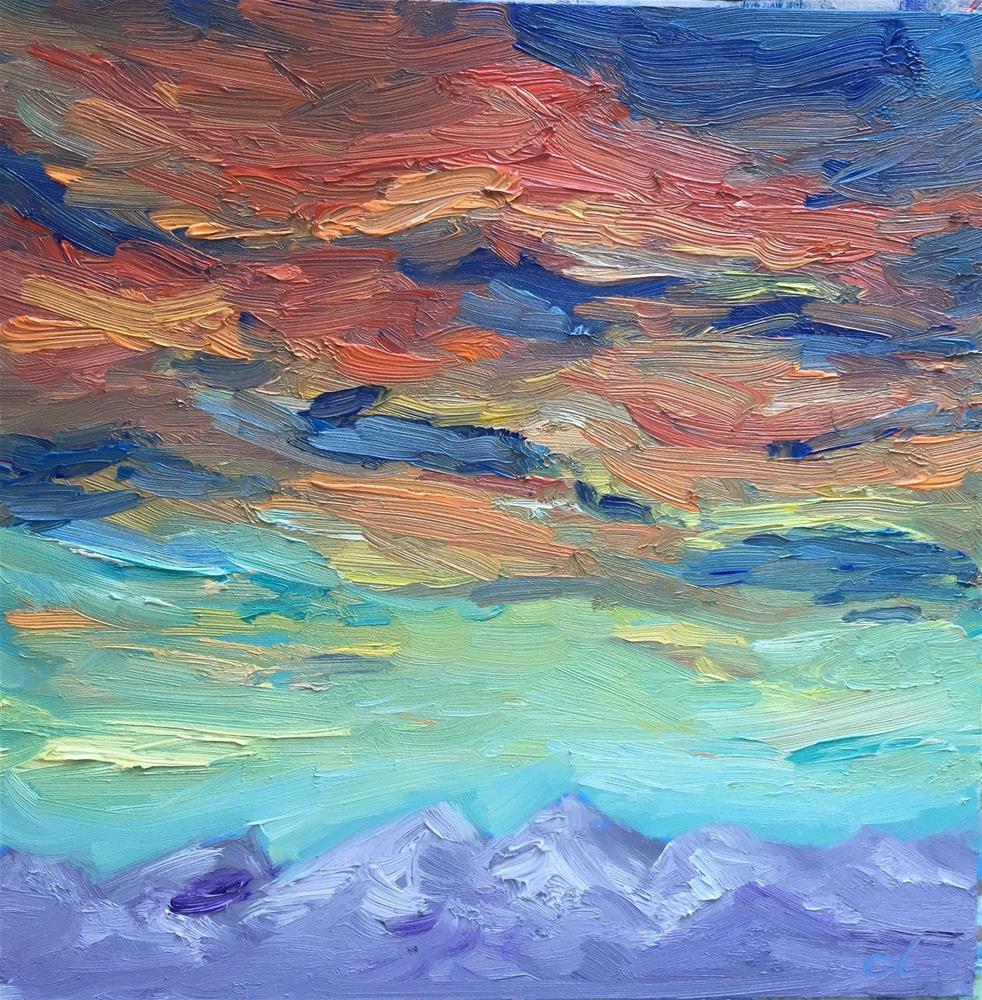 """Window skying"" original fine art by Cheree Apalona Lueck"