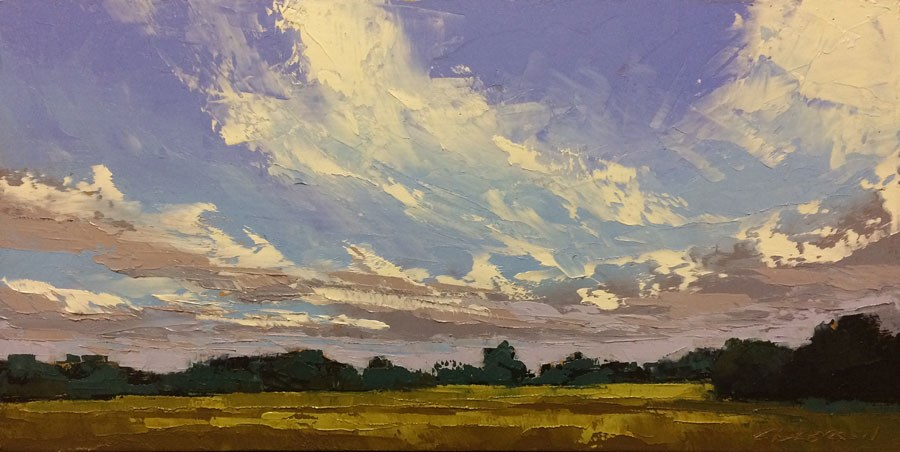 """""""Streaming Clouds"""" original fine art by Mary Gilkerson"""