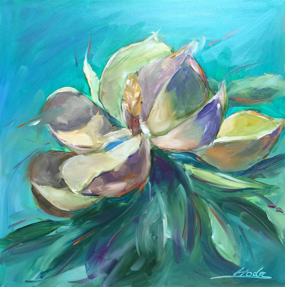 """Magnolia 3"" original fine art by Hoda Nicholas"