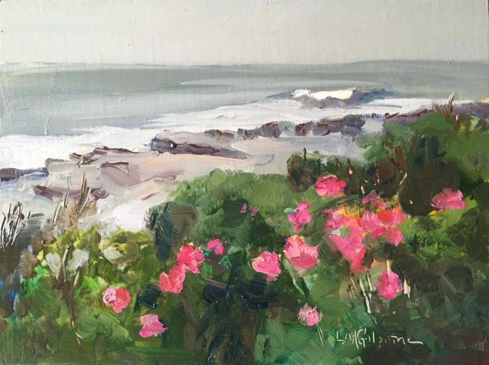"""Beach Roses"" original fine art by Libby Gilpatric"