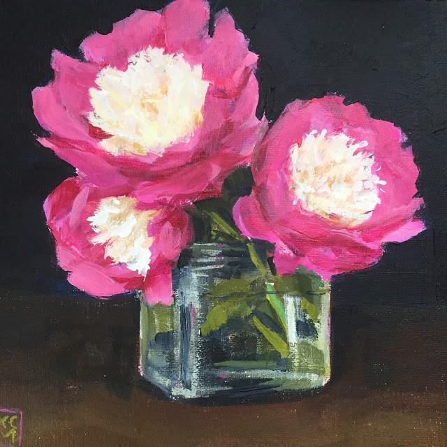 """Flowers And A Sweet Treat, by Kelley MacDonald"" original fine art by Kelley MacDonald"
