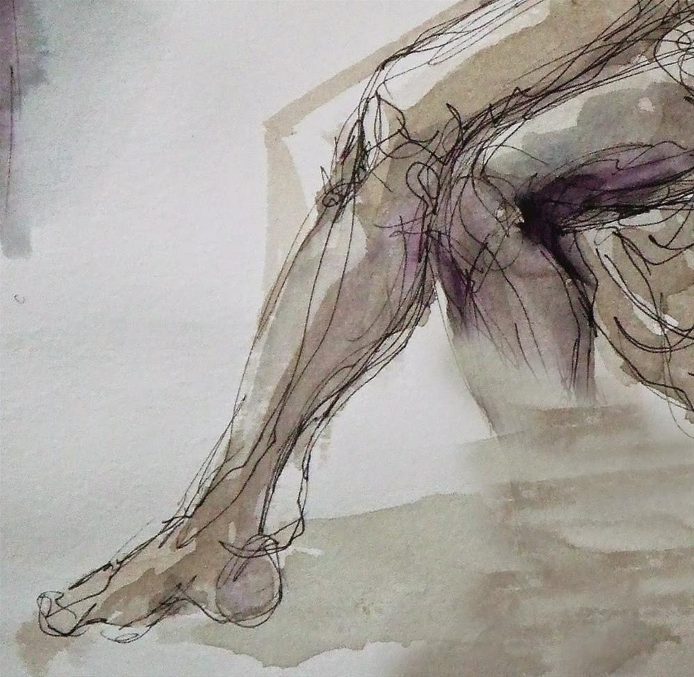 """""""BFK Rives paper1"""" original fine art by Mitsuru Cope"""