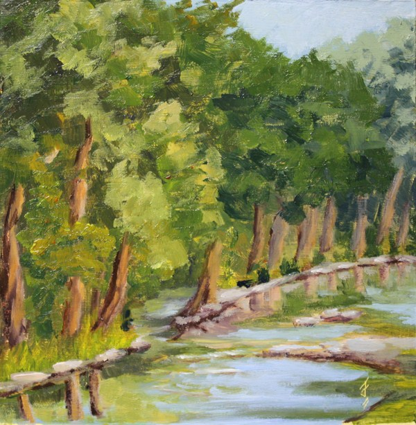 """Lazy River"" original fine art by Jane Frederick"