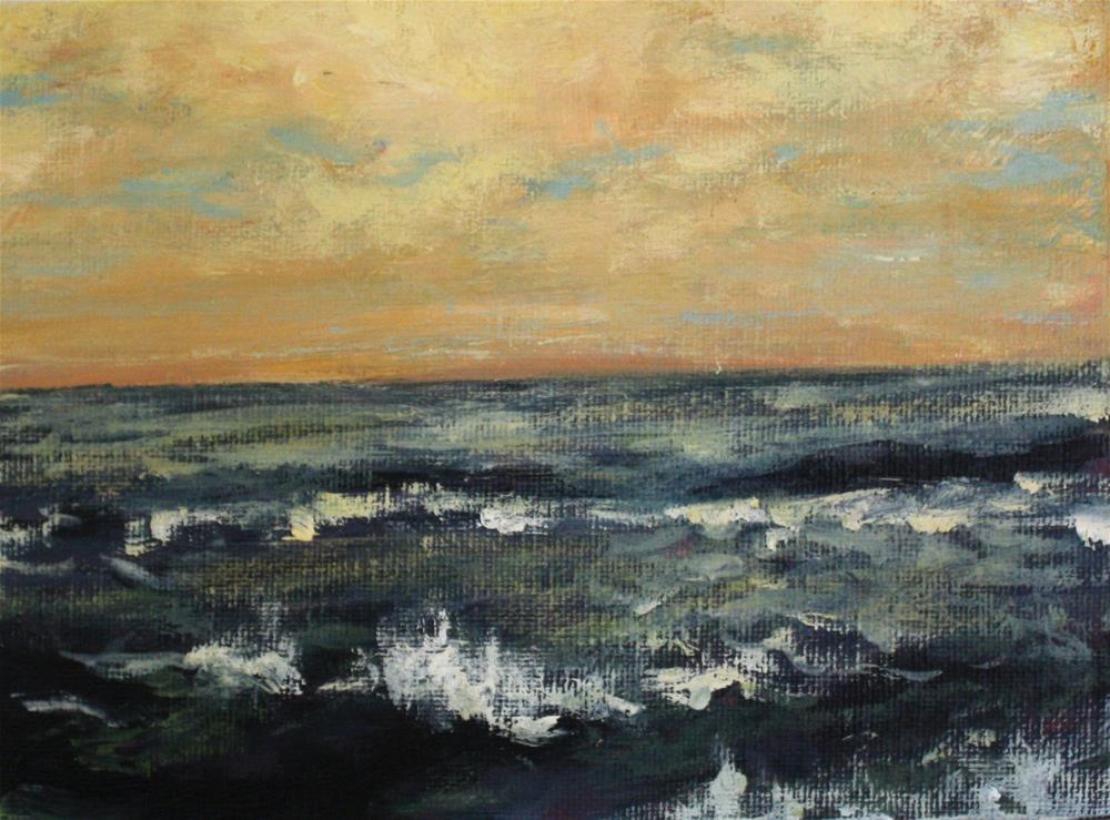 """Moody Sea"" original fine art by Shannon Bauer"