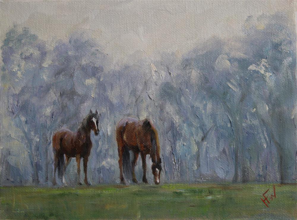 """""""Misty Pair"""" original fine art by H.F. Wallen"""