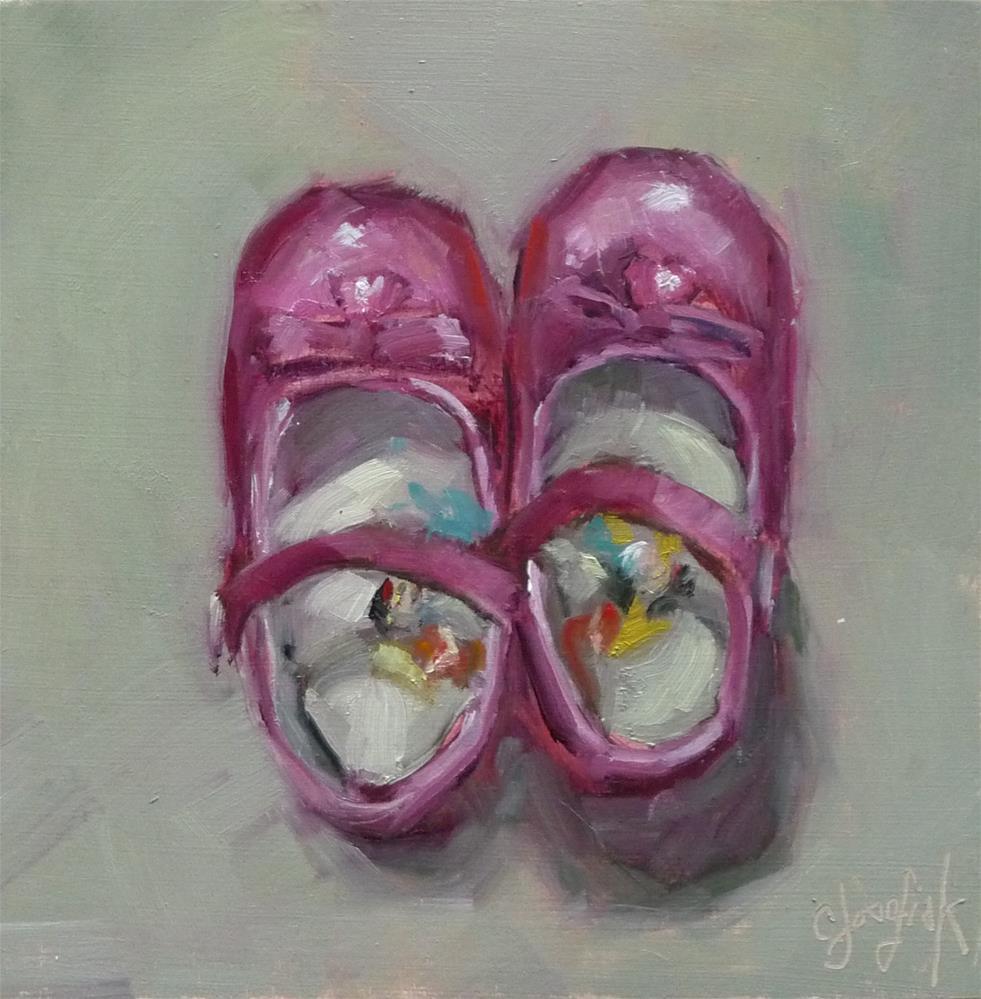 """""""Princess Shoes"""" original fine art by Carol Josefiak"""