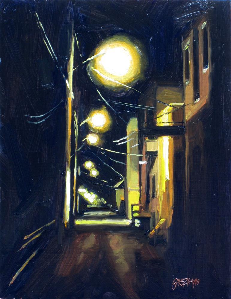 """during the night"" original fine art by Dan Graziano"