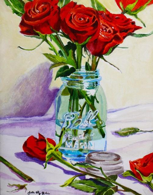 """Rosas Rojas"" original fine art by JoAnne Perez Robinson"