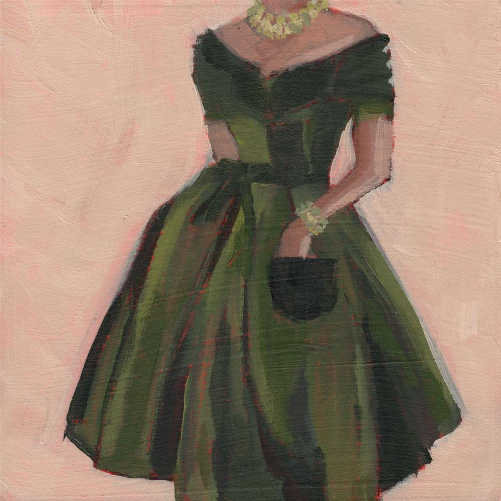 """Checking for My Mad Money (#391)"" original fine art by Debbie Miller"