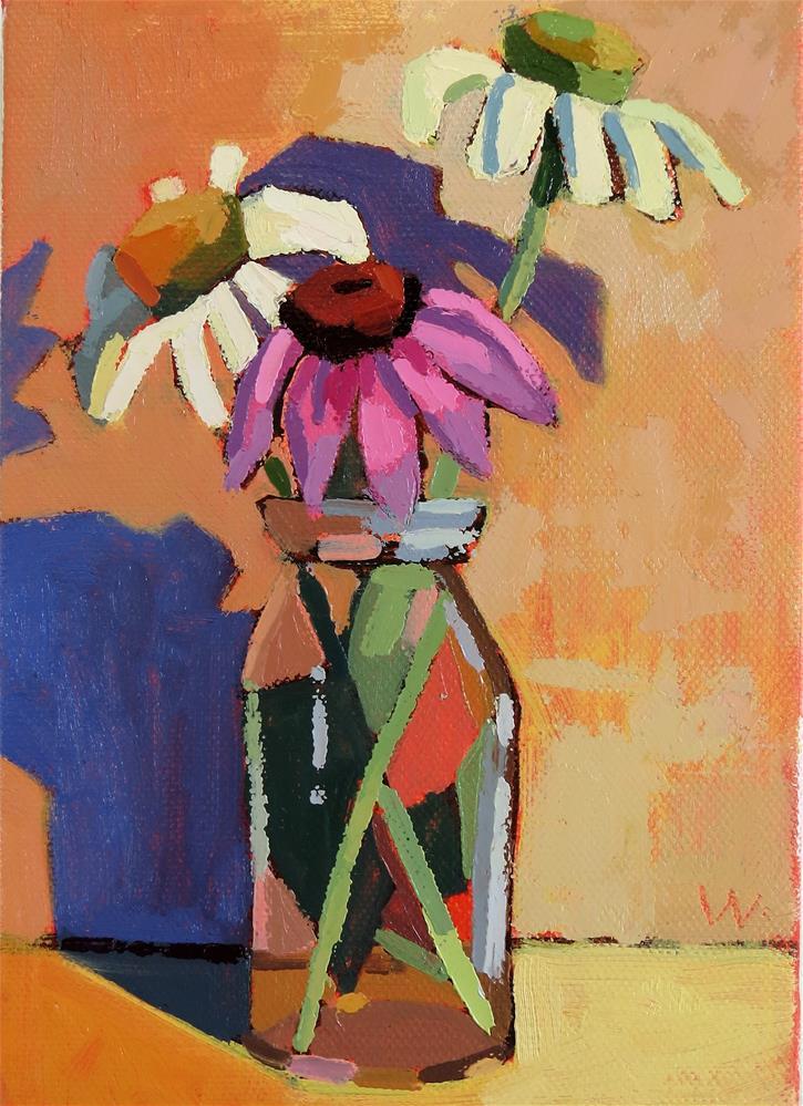 """Echinacea"" original fine art by Joan Wiberg"