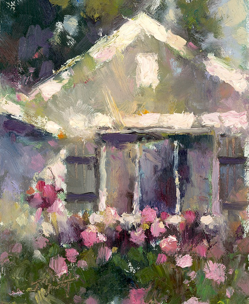 """One Peony Place II"" original fine art by Todd Zuithof"