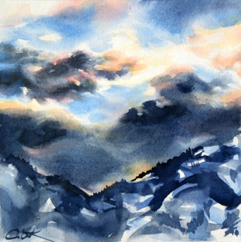 """The Storm Breaks"" original fine art by Crystal Cook"