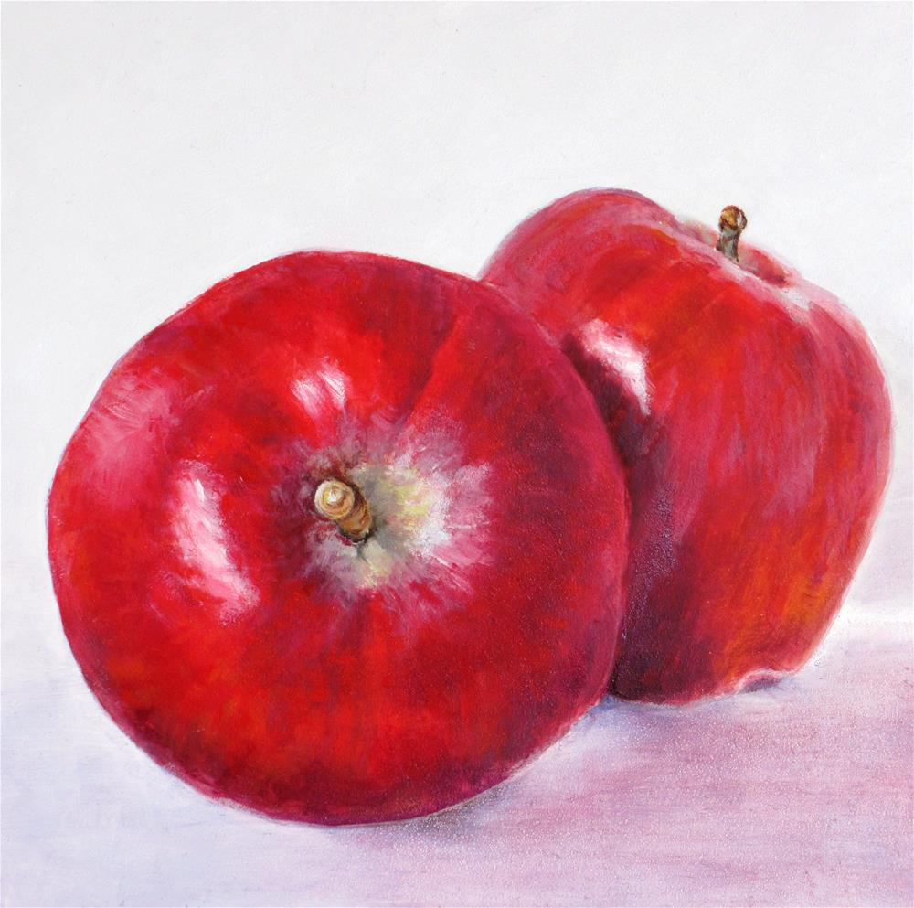 """""""Red Delicious Apples"""" original fine art by Linda Demers"""