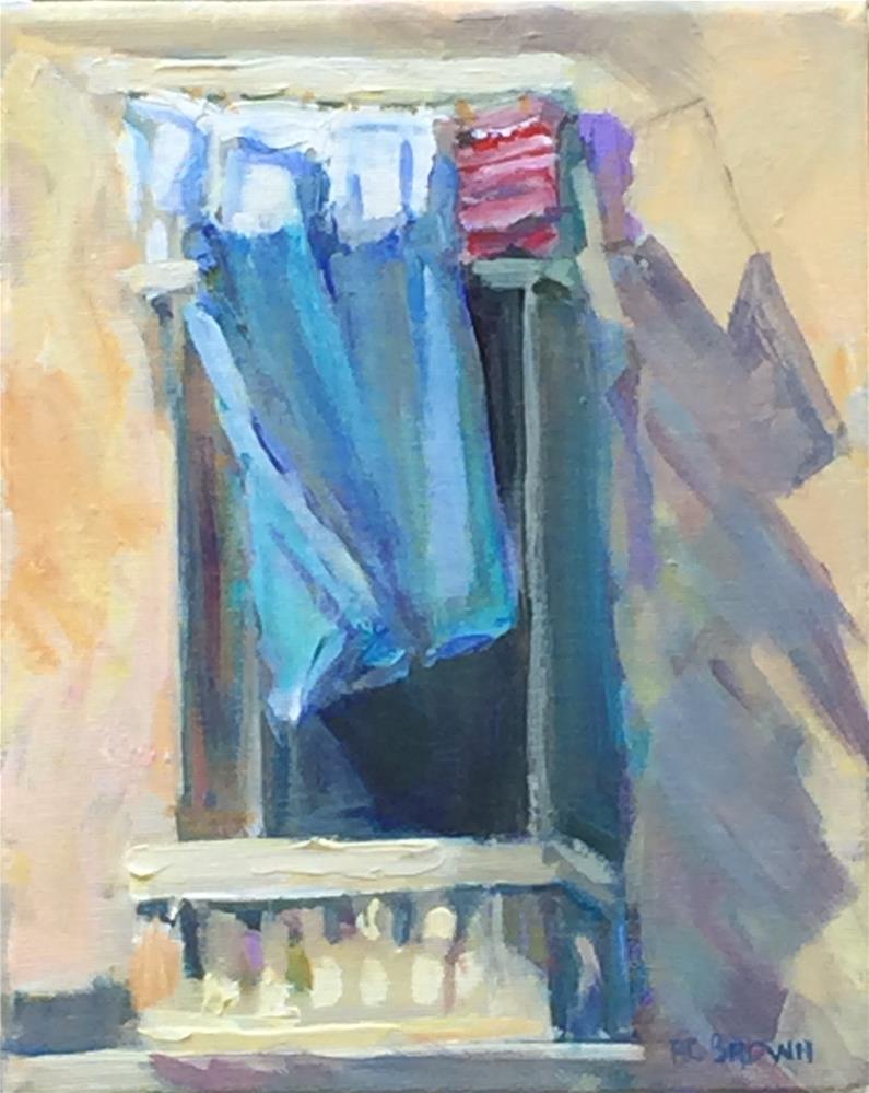 """Malta Laundry"" original fine art by Beth Carrington Brown"