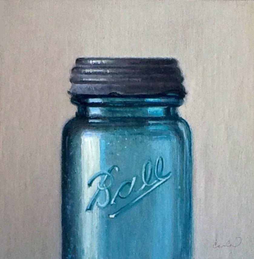 """""""Study in Blue"""" original fine art by Darla McDowell"""