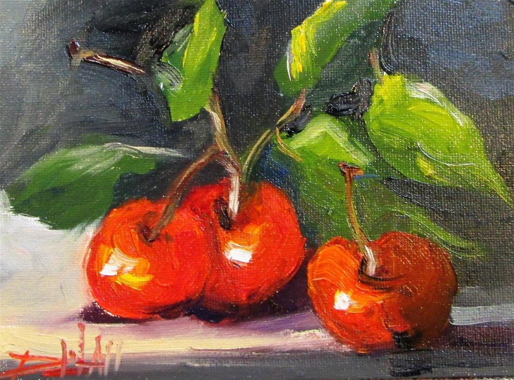 """Cherries"" original fine art by Delilah Smith"
