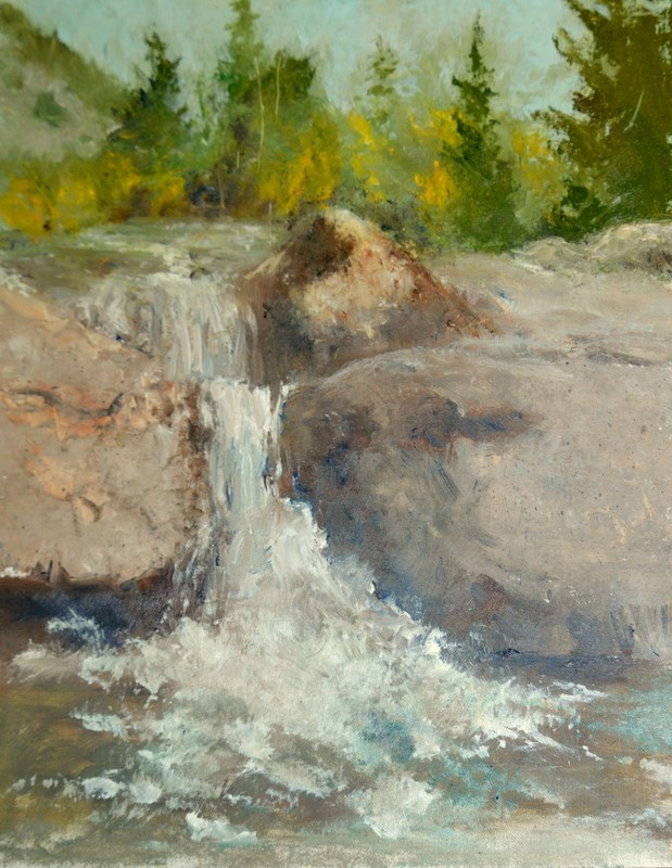 """""""A SYPHONY OF RUSHING WATER"""" original fine art by Dorothy Redland"""