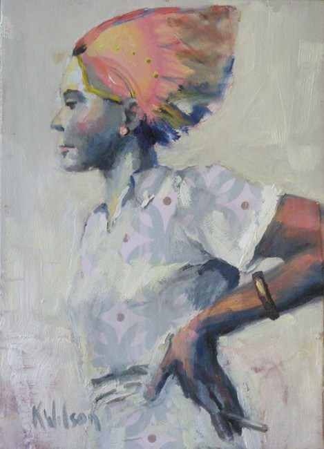 """Typical Housewife"" original fine art by Katie Wilson"