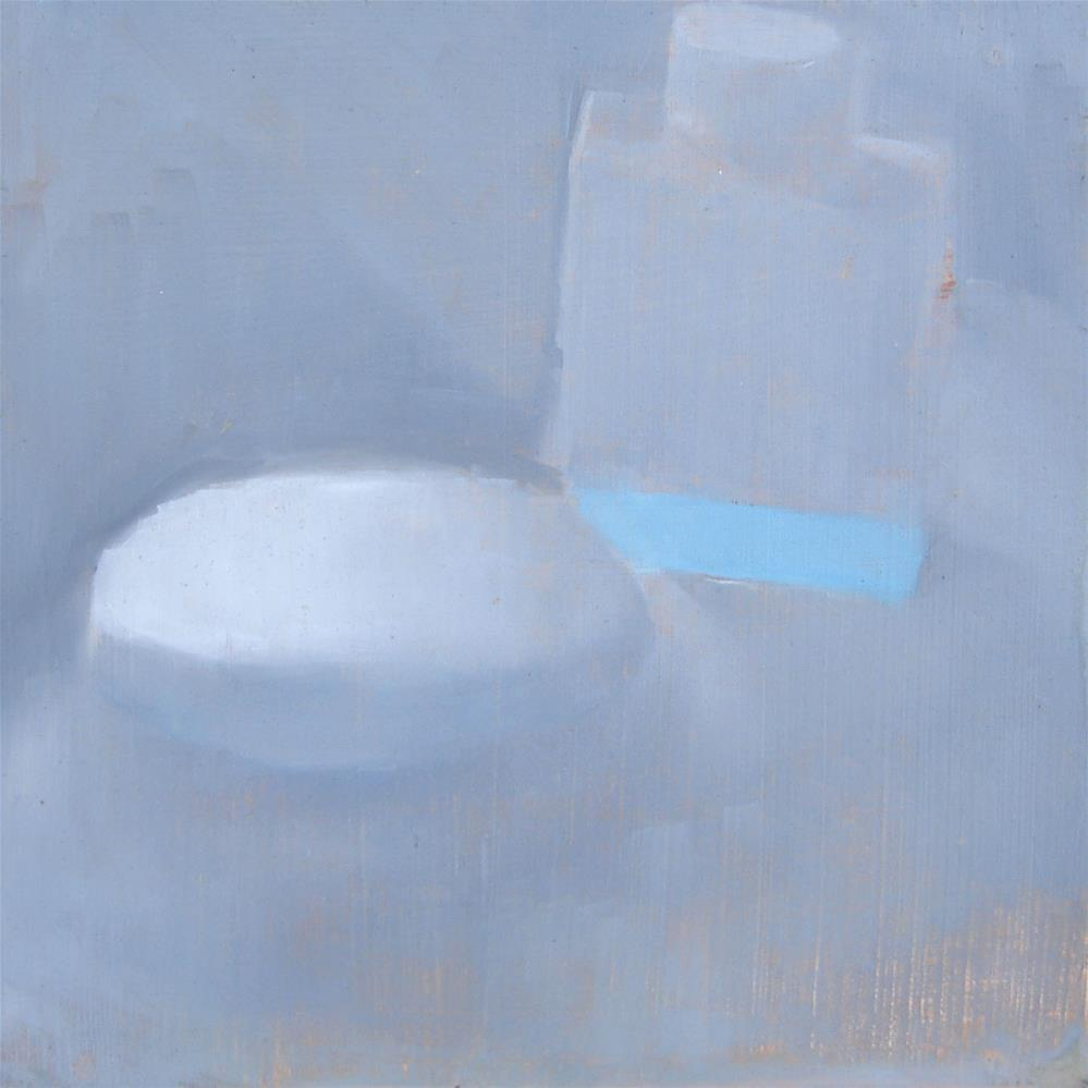 """""""Study In White (Standing In The Shower, Thinking) (no.46)"""" original fine art by Michael William"""
