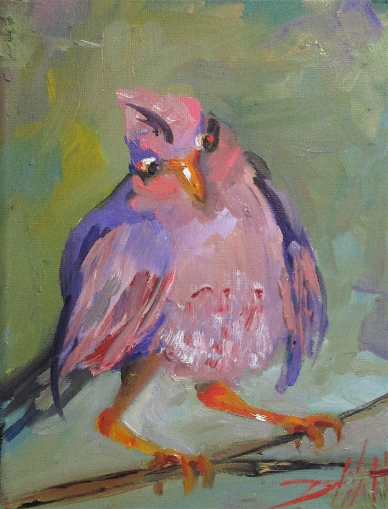 """Rosefinch"" original fine art by Delilah Smith"