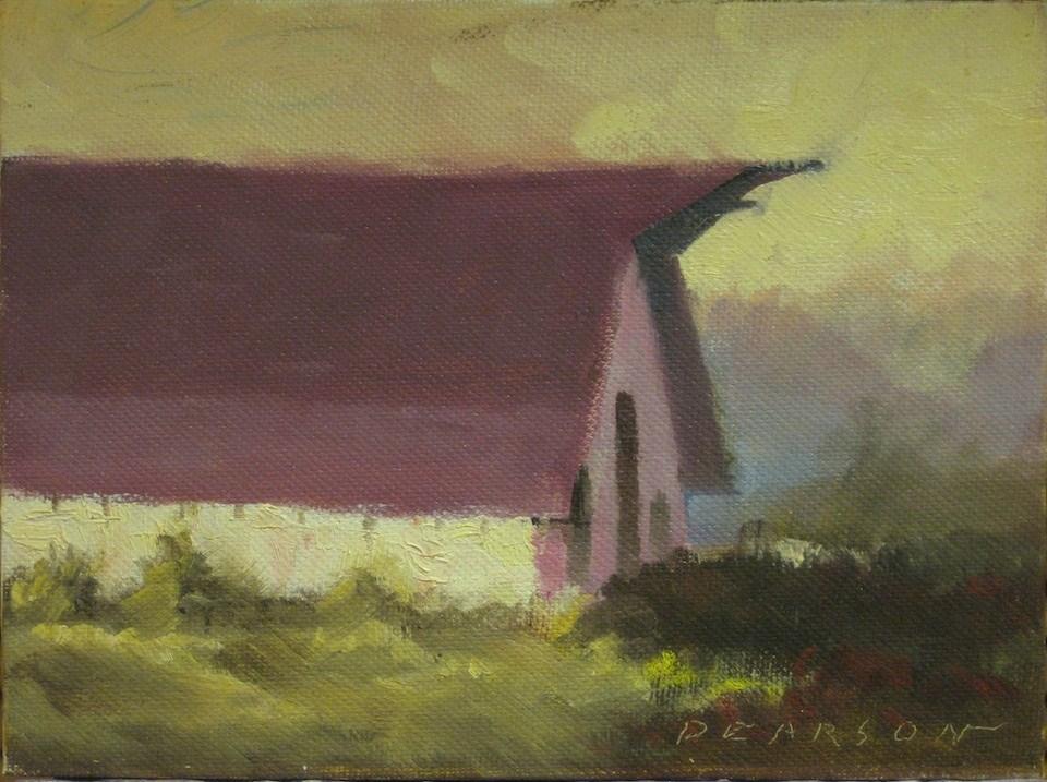 """Jerry's Barn"" original fine art by Dennis Pearson"