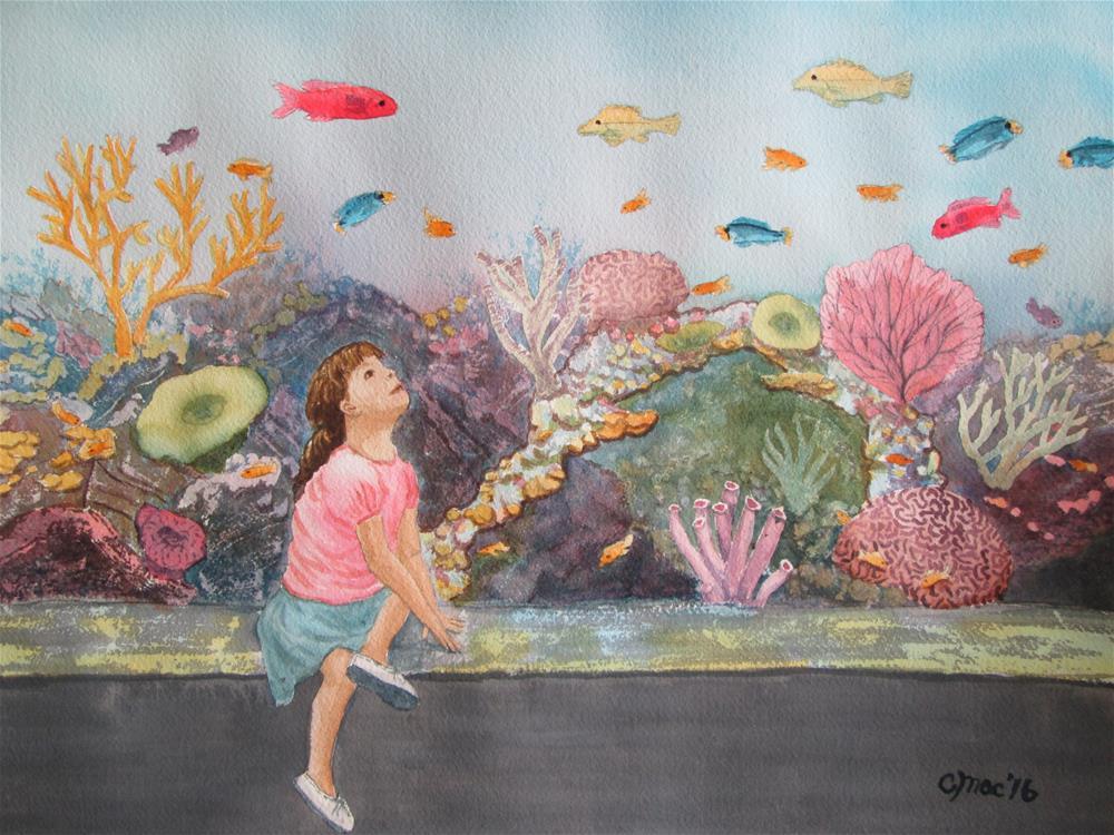 """The Aquarium - Pacific Coral Reef"" original fine art by Chris MacCormack"