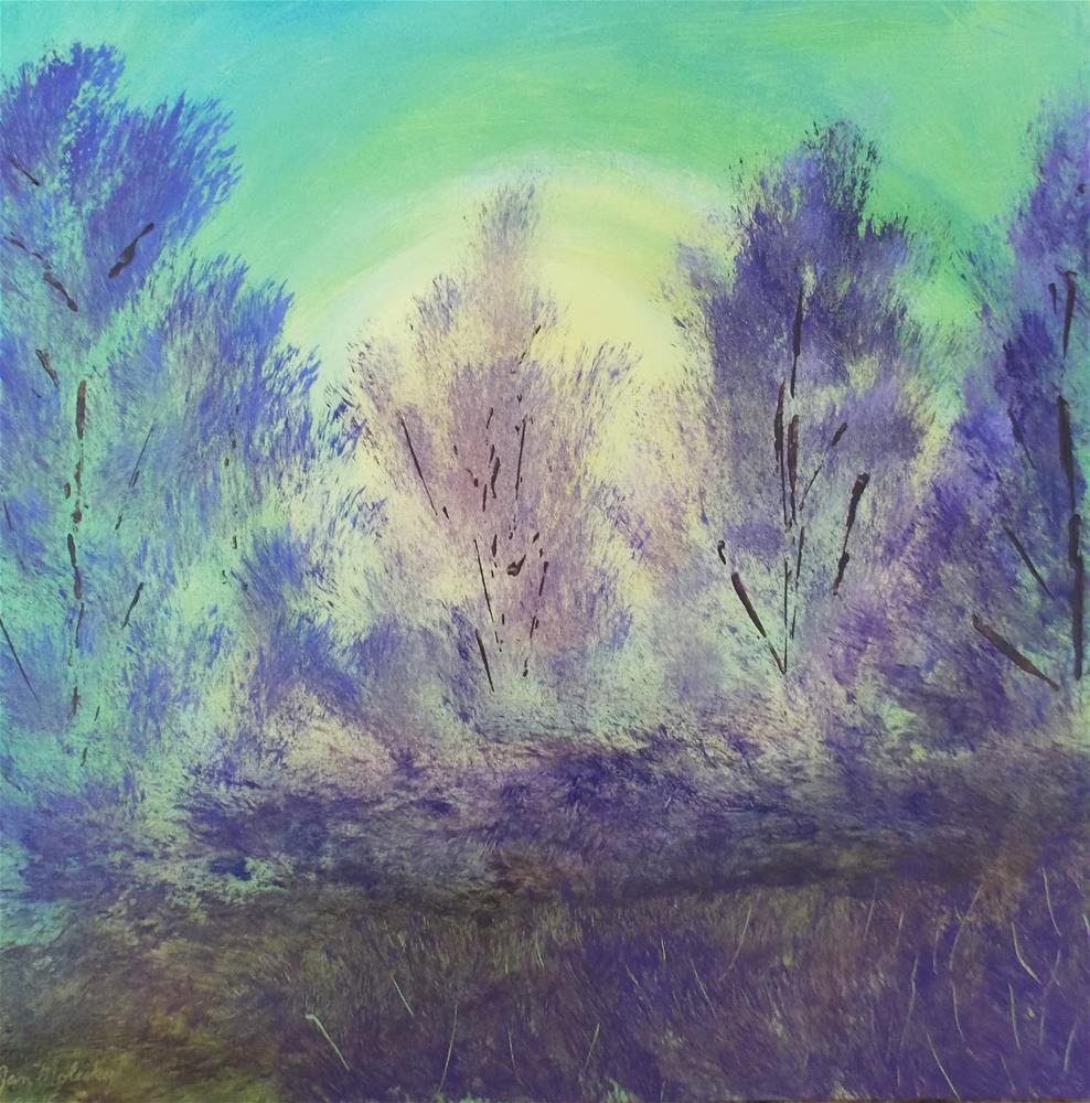 """Lavender Pines"" original fine art by Jan Molesky"