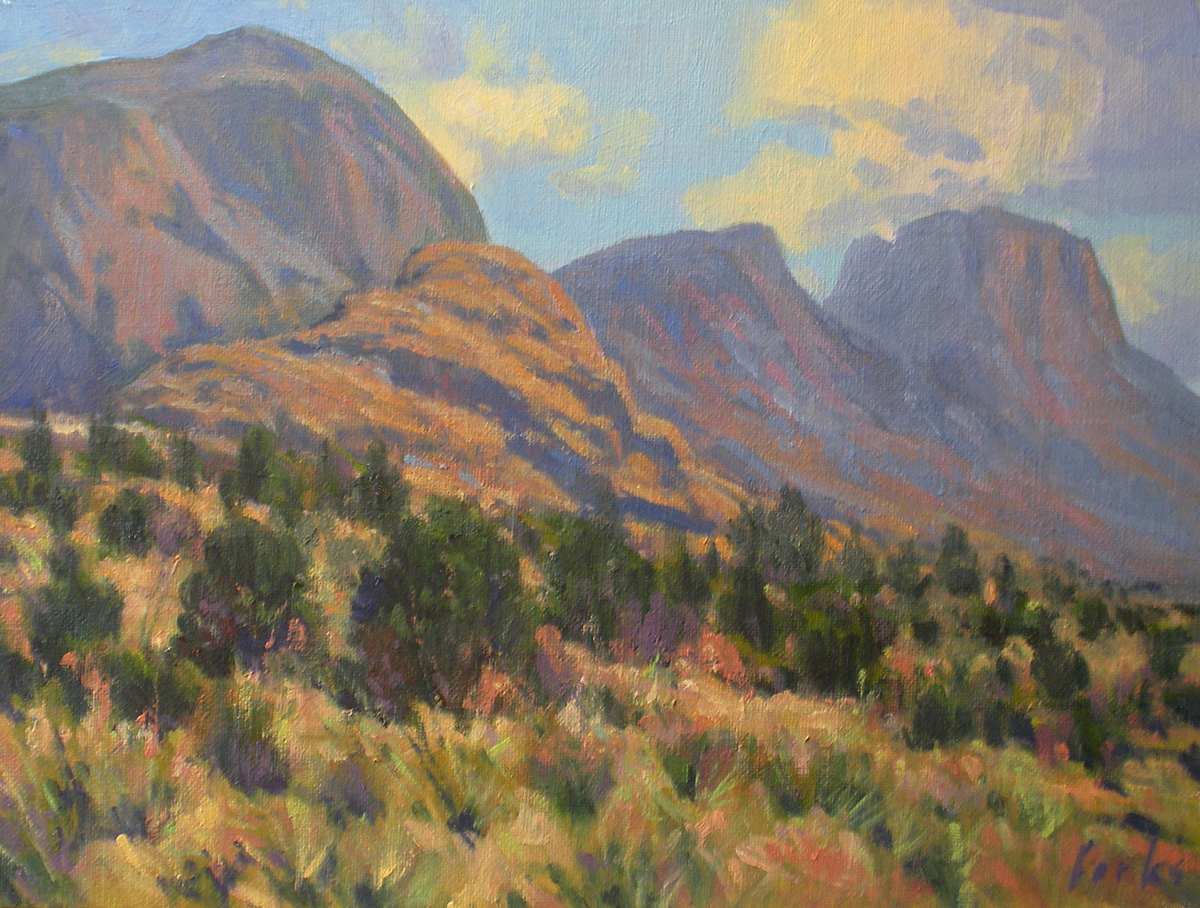 """High Desert Mountains"" original fine art by David Forks"