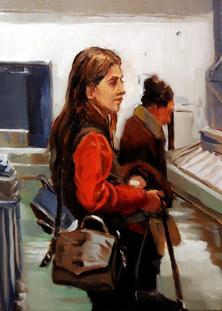 """""""79 - Baggage Claim 1"""" original fine art by Edward Watson"""