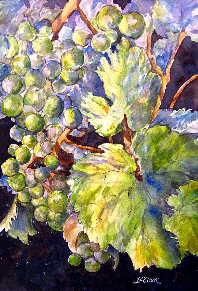 """Torn Grape Leaf, study"" original fine art by Judith Freeman Clark"