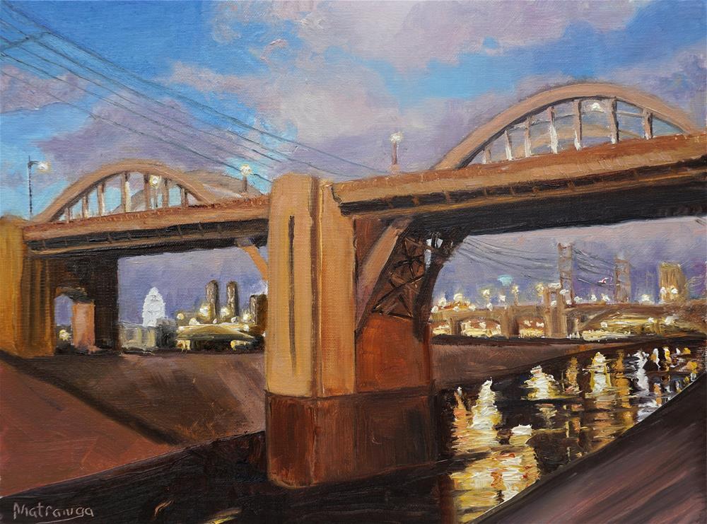 """Salute to 6th Street Bridge"" original fine art by Patricia Matranga"