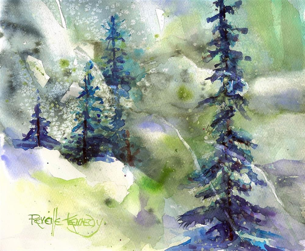 """Lime Ice"" original fine art by Reveille Kennedy"