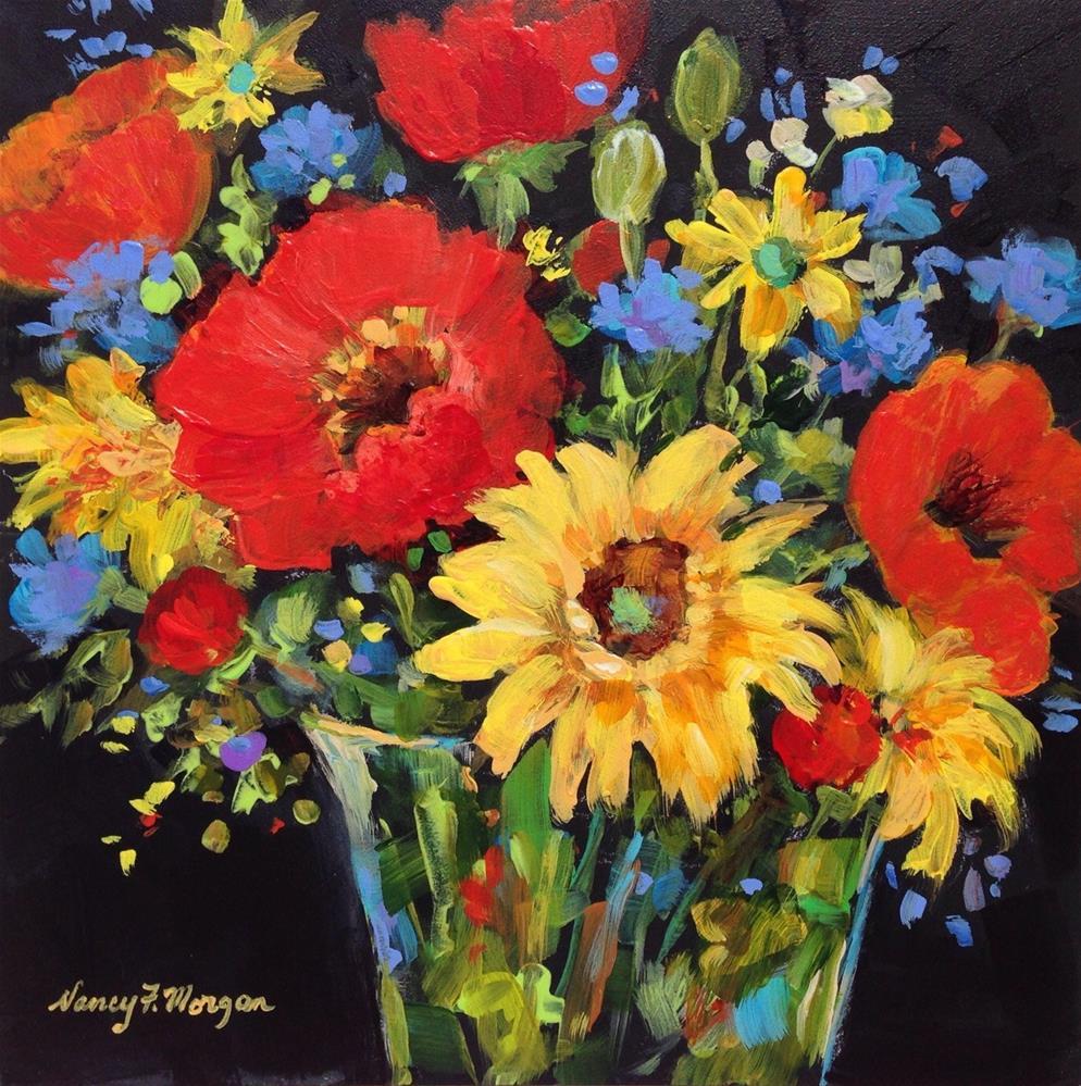 """Tuesday Bouquet"" original fine art by Nancy F. Morgan"