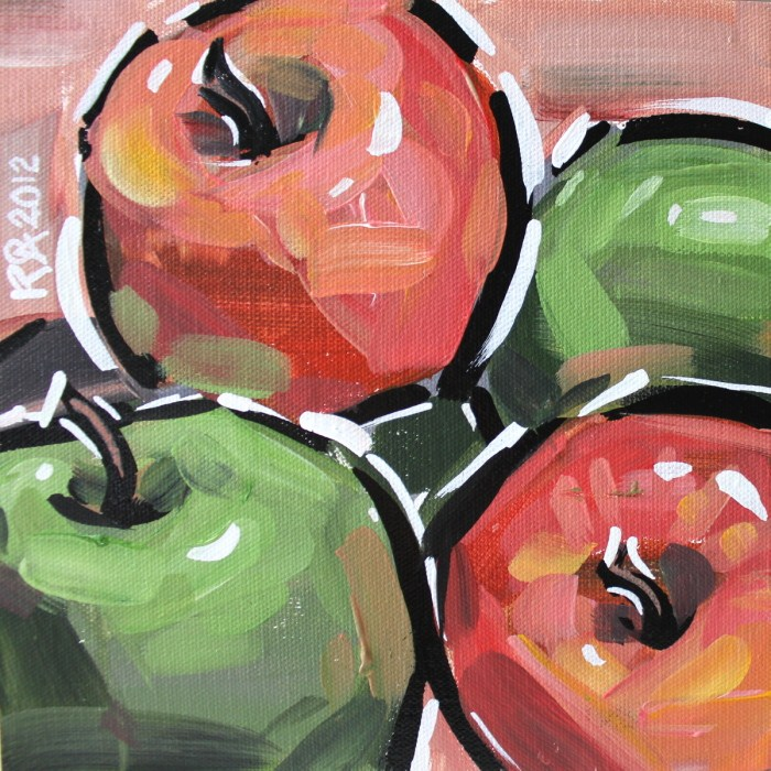 """""""Apple abstraction 1"""" original fine art by Roger Akesson"""