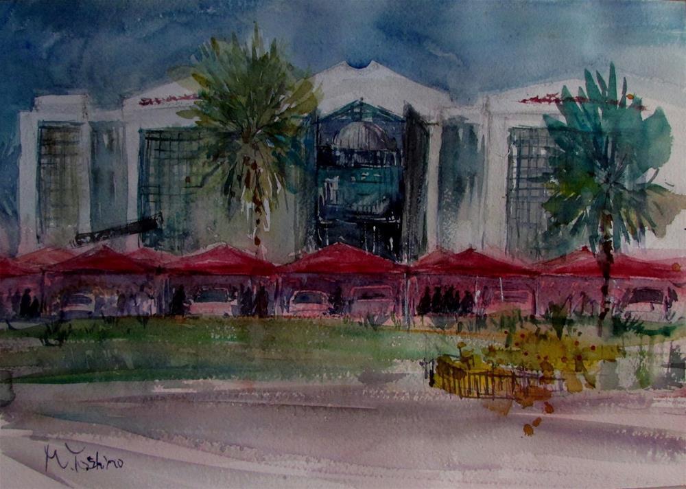 """Emirated International Hospital, Al Ain."" original fine art by Midori Yoshino"