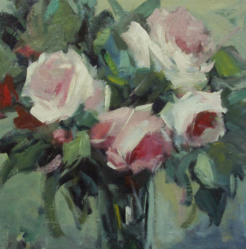 """Winter roses"" original fine art by Parastoo Ganjei"