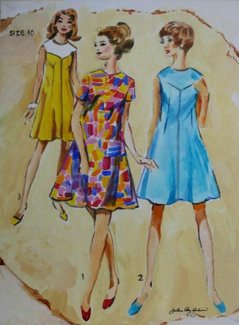 """Vintage Mod"" original fine art by JoAnne Perez Robinson"